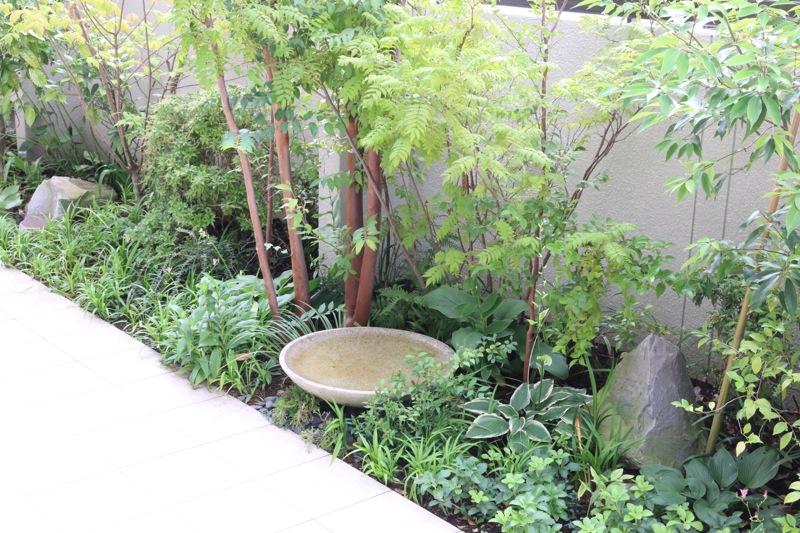 水を使った庭